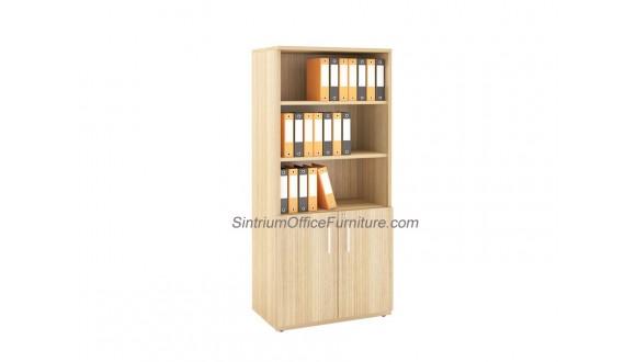 High Open Shelf with Bottom Swing Door Cabinet