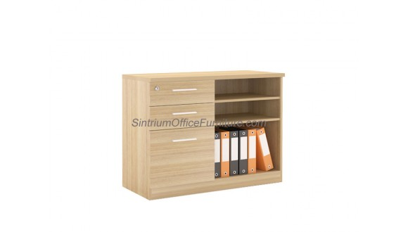 Low Open Shelf Cabinet with 2D1F Drawer