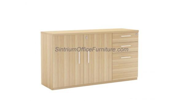 Low Swing Door Cabinet with 2D1F Drawer